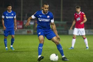 Chesterfield midfielder Curtis Weston.