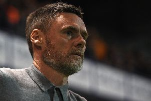 Picture: Andrew Roe/AHPIX LTD, Football, Sky Bet League Two, Mansfield Town v Salford City, One Call Stadium, Mansfield, UK, 22,10/19 K.O 7.45pm''Salford's manager Graham Alexander'Howard Roe>07973739229