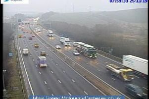 Junction 30 northbound of the M1.
