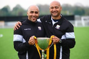 Mark Clifford (left) and Martin Carruthers (right) worked together at Basford United.