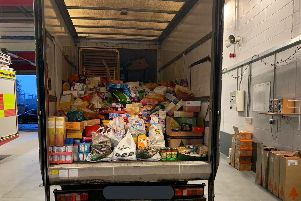 The donations to Arena Foodbank in Ilkeston