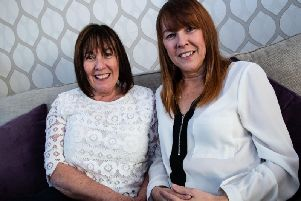 Diane (left) is donating a kidney to younger sister Nadine