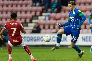 Josh Windass in action against Bristol City