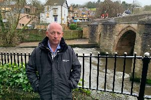 Paul Reeves by the River Derwent in Matlock.