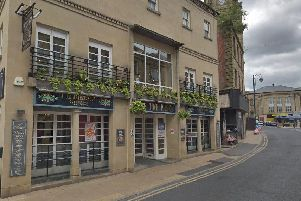 A car crashed into the Time Piece pub in Dewsbury. Pic: Google.
