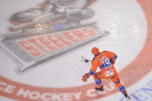 Evan McGrath on Steelers ice, picture by Dean Woolley