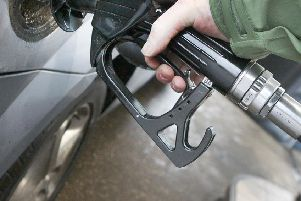 A petrol station fuel pump.