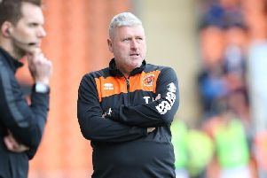 Blackpool boss Terry McPhillips believes his side should have been awarded a penalty in the first half.
