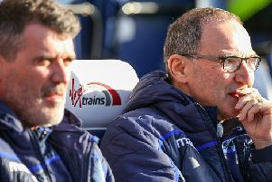 PRESTON, ENGLAND - FEBRUARY 16: Nottingham Forest manager Martin O'Neill watches on during the Sky Bet Championship match between Preston North End and Nottingham Forest at Deepdale on February 16, 2019 in Preston, England. (Photo by Alex Dodd - CameraSport via Getty Images)