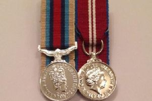 The two military medals stolen