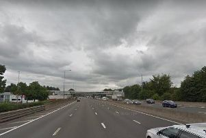 The M1 was closed in both directions between Junction 25 and 26, near Trowell Services.