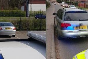 Two uninsured vehicle have been seized in separate incidents