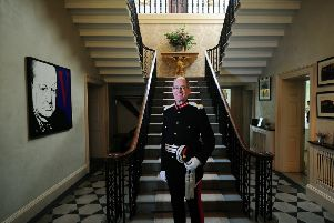 New Lord Lieutenant of West Yorkshire Ed Anderson pictured at Bowcliffe Hall, Bramham..30th August 2018 ..Picture by Simon Hulme
