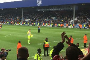 Reds keeper Costel Pantilimon salutes the Forest fans after Saturday's win at QPR