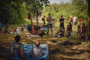 Timber festival. Photo by Natalie Bell, Adventures Begin Photography.
