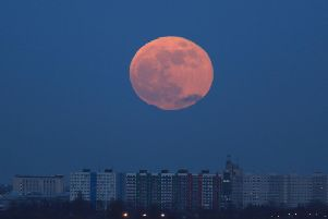 Last year's Full Blue Moon on January 31 seen over Hull, East Yorkshire. Picture Danny Lawson/PA.