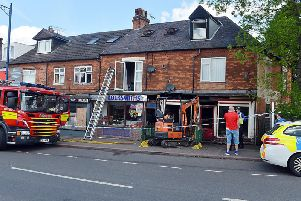The fire has caused significant damage to a number of properties