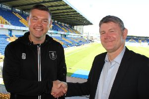 John Dempster welcomes new assistant manager Lee Glover to the club.
