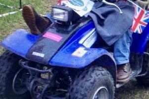 The stolen quad bike.