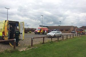 Crews at the scene. Image: Derbyshire Fire and Rescue Service.