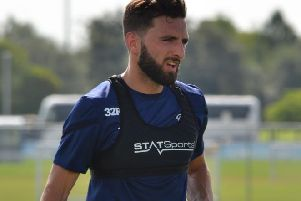 Graeme Shinnie in training in Florida. Photo: Derby County FC