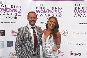 Lucy Davis at the English Womens Awards North 2019 with partner Ben Haldon