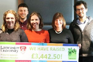 Lancaster University Staff Survey supported St Johns Hospice.