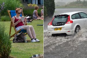 Scorching temperatures in Leeds were followed by devastating floods across Yorkshire