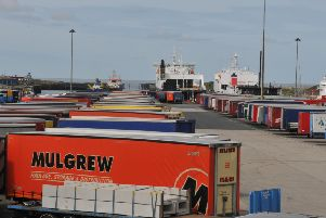 Photo Neil Cross'Trailers at Heysham Port