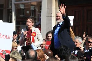 Labour leader Jeremy Corbyn on the general election campaign trail alongside the party's local candidate Rachael Maskell in St Helen's Square, York in 2017. Picture: Danny Lawson/PA