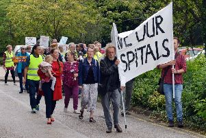 Campaigners have protested against plans to reduce the number of beds at Ilkeston Community Hospital