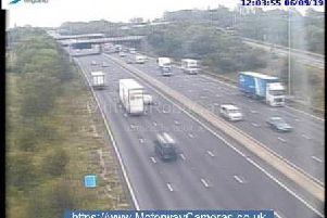 There is traffic on the M1