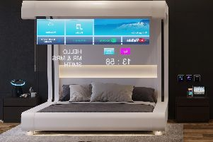 Bedrooms with glass TVs