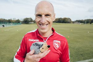 Kevin Ellison shows his support for hedgehogs