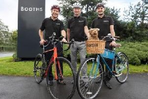 From left: Damien McDonald, Edwin Booth and Nigel Murray who will be cycling in the Tour O' Booths to raise money for the charity MIND.