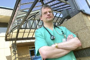 Dr Ray McGlone outside the Accident and Emergency Building at the Royal Lancaster Infirmary.-2305012.