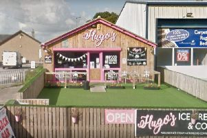 Hugo's Ice Cream and Cafe on Lancaster Road in Forton was targeted at around 12.50am on Wednesday, September 18