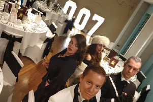 The murder mystery dinner at The Midland.