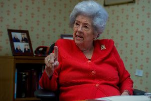 Betty Boothroyd during an interview with The Yorkshire Post in April 2017 to mark the 25th anniversary of her election as Speaker.