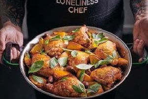 One Pan Roast Chicken, Orange and Olives