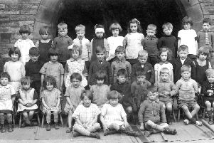 Community spirit: These little children were pupils at Eastborough School in the late 1930s, and would have known all about the joys of Bonfire Night. At this time of year they would have been out 'chumping' every night. I wonder if any of them belonged to the 'Hollow Gang' whose members really were the toughest kids on the block.
