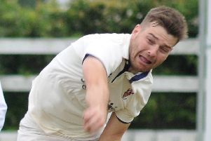 Jon Millward took the first Lancaster wicket to fall