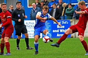Lancaster City beat Ossett United in the FA Trophy. Picture: Tony North