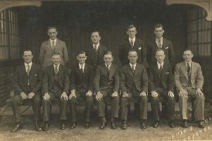 Williamsons Football Committee pictured in season 1932-33 on the Giant Axe.
