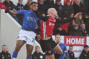 Kevin Ellison had fired Morecambe in front late on
