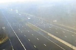 Five vehicles were involved in a collision on the M6 near junction 33 (Lancaster) on Wednesday, January 23.