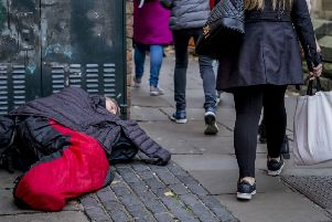 Housing charity Shelter blamed a lack of social housing, spiralling rents, and a 'faulty' benefits system for the dramatic rise in the number of rough sleepers.