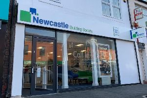 The new look Newcastle Building Society branch in Ashington.
