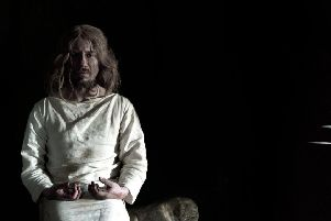 Mark Burghagen as Richard II in a new film called The Sacred King showing the Pontefract Castle prison speech of Shakespeare's play. Picture by Ben Porter who filmed the piece.
