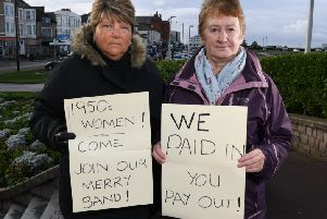Karen Carter and Christina Barrett facing hardship over pension age rise.